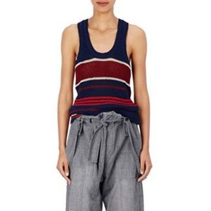 ETOILE ISABEL MARANT Navy Dully Striped Knit Top